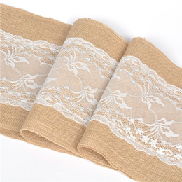 $enCountryForm.capitalKeyWord UK - European Wedding Christmas Jute Burlap Hessian White Lace Table Runner Home Decoration Hotle Tablecloths Table Lines 30X275CM