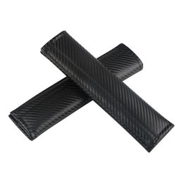 accessories lancer 2019 - For Mitsubishi ASX Pajero Outlander Lancer L200 RALLIART Car Accessories Seat Safety Belt Pad Belt Cover Sleeve Carbon F