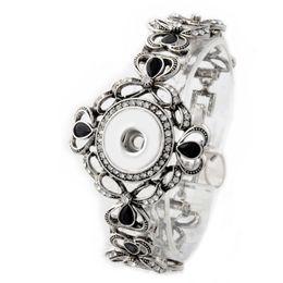 $enCountryForm.capitalKeyWord NZ - New Women Designer Bracelets Bling Bling Crystal Bracelet Antique Silver Snap Chain Bracelet Jewelry 12 Styles Hot Sale