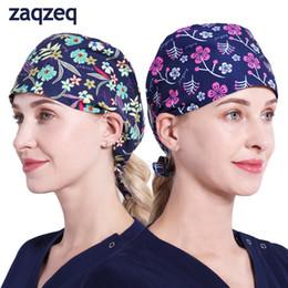 Doctor Nurse Scrub Cap Surgical Hat Unisex Animal Flower Print Medical  Uniform 9e5fb9e46ffc