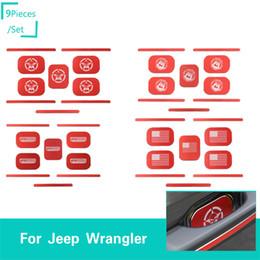 $enCountryForm.capitalKeyWord Australia - 4Door Car Door Tail Door Handle Decorative Bows Red For Jeep Wrangler JL 2018+ High Quality Auto Exterior Accessories