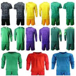 2019 Camisas De Futebol Kit Uniforme De Goleiro 19-20 Homens Adultos Goleiro Em Branco camiseta Sem Logotipo Da Equipe Com Anúncio nk pm Conjunto de Futebol de Manga Longa em Promoção