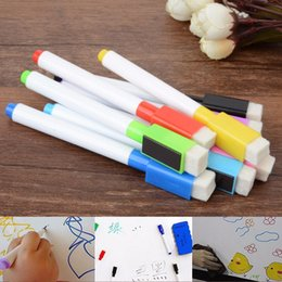 $enCountryForm.capitalKeyWord Australia - 8 Colors Magnetic White Board Markers Pens Dry Erase Fine Point Built-in Eraser For Writing on Ceramics