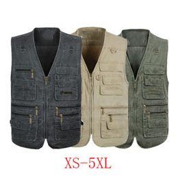 Vest photography online shopping - ZOGAA Men Baggy Jacket Tactical Vest Men Multi pockets Photography Cameraman Vest Plus Size XL XL Casual Reporter