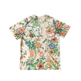 Hollow Pipe UK - 2019 Paris GUCHI coloured diamond Lovers Cotton Tshirts Pharrell short Sleeve Summer Tee Breathable Vest Shirt Streetwear Outdoor T-shirt