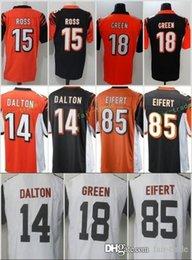 43be1dd3c Cincinnati Men Bengals Jersey Cheap  18 A.J. Green 14 Andy Dalton 15 John  Ross 85 Tyler Eifert stitched jerseys Free Shipping