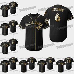 Jays baseball online shopping - 2019 Golden Edition Toronto Marcus Stroman Freddy Galvis Randal Grichuk Justin Smoak Kevin Pillar Kendrys Morales Blue Jays Jersey