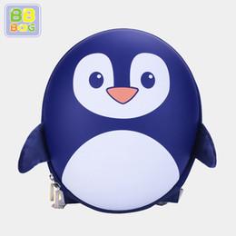 $enCountryForm.capitalKeyWord NZ - BB BAG Authentic School Bag for Boy Girls Cute Cartoon Penguin Pattern Backpack EVA Environmentally Friendly Preschool Bag Satchel