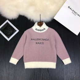 Wholesale chinese clothes girls for sale - Group buy girl sweaters kids knitwear kids clothes girls knit pullover New year christmas gift