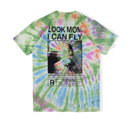 Wholesale t i shirt for sale – custom 2020 Ins Hot Travis Scott Cactus Jack Look Mom I Can Fly Tie Dye Tee Skateboard Mens designer t shirt Women Street Casual Tshirt