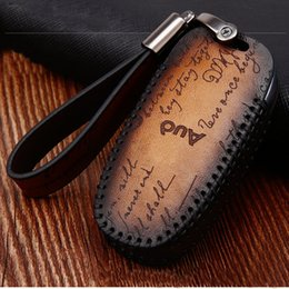 $enCountryForm.capitalKeyWord Australia - Genuine Leather Car Key Cover For Audi A6L A4L A3 A8L A5 A7 Q2L Q3 Q5 Q7