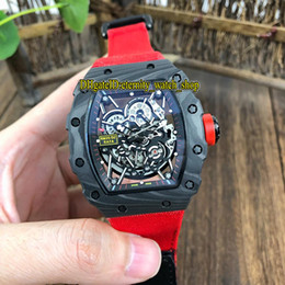 $enCountryForm.capitalKeyWord Australia - 8 Color High Quality RM 35-02 NADAL NTPT Carbon Fiber Case Skeleton Dial Japan Miyota Automatic RM35-02 Mens Watch Nylon Strap Sport Watches
