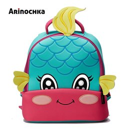 Mermaids Cartoon Australia - Lovely Little Kids Mermaid School Bag Zoo Animal Backpack Cartoon Unicorn Toddler Small Baby Bag Beautiful Butterfly For Girls Y190601