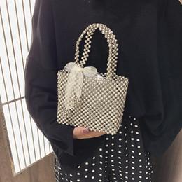Box handles online shopping - Handmade Pearl Bag Women Handbags Small Box Party Vintage Shoulder Bag Female Top Handle Purse Evening Bags