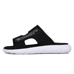 Men Heel Platform Shoes Australia - 2019 New Summer Arrivals Platform Men Home Shoes Flat Heels Comfort Mens Leisure Slippers Mans Letters Decoration Indoor Shoes