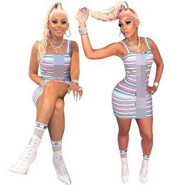 $enCountryForm.capitalKeyWord Australia - 2019 Women Spaghetti strap sexy mini dress striped print women bodycon bandage dresses Fashion club Clothings S-2XL
