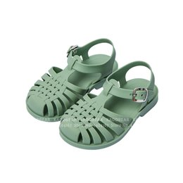 boys barefoot sandals Canada - Summer Children Barefoot Sandals for Girl Kids Carnival Party Princess Roman Shoes Non-slip Soft Baby Boy Outdoor Slipper Slides CX200629