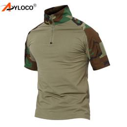Camo Clothing T Shirts Australia - Tactical Short Sleeve Combat Hiking T-Shirt Men Multicam Camouflage US Clothing Camo T Shirt Paintball T-Shirt