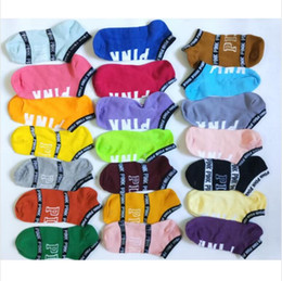 Rose Chaussettes Lettre rose bateau chaussettes Bonneterie Girl Sock Slipper Anklet plein air Sports Basketball Chaussettes Cheerleader Sous-vêtements d'été de BCZYQ6195