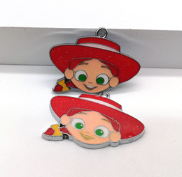 Anime Charms Wholesale Australia - Wholesale mixed Ocean wind anime Cowgirl DIY Metal pendants Charms Jewelry Making Gifts