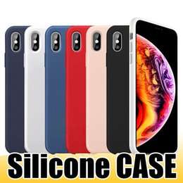 Wholesale Quality Liquid Silicone Case for iPhone Xs Max Xr X Plus Gel Rubber Shockproof Phone Cases with Retail Box
