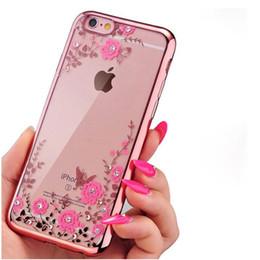 Discount secret iphone - phone case Luxury diamond flowers pattern soft TPU secret garden Phone case For iphone XS max xr xs 8 plus