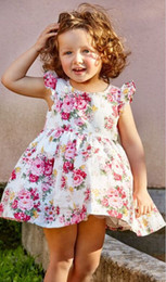 flower girl dresses fast NZ - New Arrival Fastest-selling Dress Summer Unicorn star flower Girls Sleeveless O-Neck high quality cotton baby children Clothing sets