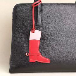 Famosa Marca Designer Handmade Lambskin Couro Genuíno Real Moda Bota Chaveiro Pingente Chaveiro Mulheres Saco Charme Acessórios em Promoção