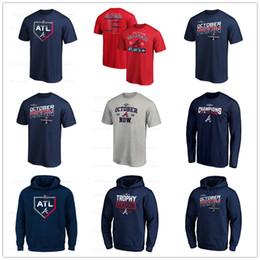 East jErsEy online shopping - Baseball jerseys Atlanta Ronald Acuna Jr Braves NL East Division Champions T Shirt Navy Hoodies long sleeve Fans Tops Tee printed