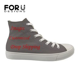 9e1637cbdd78d0 FORUDESIGNS Custom Images or Logo High Top Flats Women Shoes Canvas High  Quality Women s Casual Sneakers Shoes Woman Vulcanized