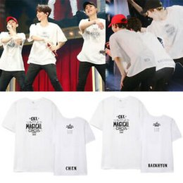 Exo Black Shirt Australia - EXO CBX Magic Circus 2019 Concert Same Male and Female Couples T-shirt