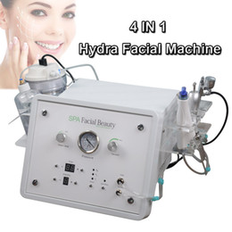 Home facial beauty equipment online shopping - 4in1 SPA BIO Lifting RF facial machines hydra dermabrasion Oxygen spray skin care beauty equipment home use microdermabrasion skin therapy