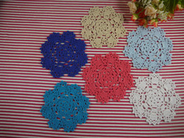 "$enCountryForm.capitalKeyWord Australia - 30 PCS Handmade Crocheted Doilies Cotton Table Napkin pad Round wedding home decoration Coasters 13cm 5"""