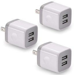 Packed Iphone Australia - USB Wall Charger, BEST4ONE 3-Pack 2.1A 5V Dual Port USB Plug Power Adapter Charging Cube Compatible with iPhone X 8 7 6 Plus SE 5S 4S, iPad,