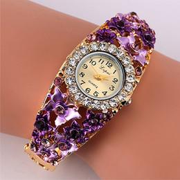 $enCountryForm.capitalKeyWord NZ - Fashion Retro Luxury Bangle Watch Ladies Crystal Flower Bracelet Women Dress Quartz Wristwatch Best Gift For Girlfriend