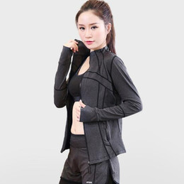 $enCountryForm.capitalKeyWord NZ - New women's fitness outdoor sports shirt long-sleeved running fitness yoga jacket zipper cardigan fashion popular self-cultivation