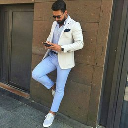$enCountryForm.capitalKeyWord Australia - Men Suits Ivory Custom Made Wedding Suits For Man Prom Bridegroom Groomsmen Slim Fit Casual Groom Wear Best Man Tuxedo Blazer Jacket+Pants
