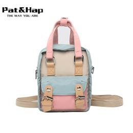 "$enCountryForm.capitalKeyWord NZ - Pat&hap 8"" Patchwork Mini Size Small Backpack Waterproof Nylon Classic Bags Mini Backpacks for Women School Pink Bag"