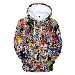 Wholesale hoodie animation online – oversize Newest Children Hoodies One Piece Sweatshirt Hoodie Pullovers Men s Clothes Print Popular Animation Character