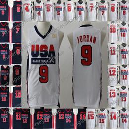 57baa8ef8 1992 Team USA Basketball Jerseys Dream One  4 Christian Laettner 5 David  Robinson 6 Patrick Ewing 7 Larry Bird 8 Scottie Pippen