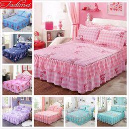 full size kids beds Australia - Fashion Girl Bed Skirts 1.2m 1.5m 1.8m 2m Bed Cover Adult Kids Child Soft Cotton Linen Single Full Queen King Size Bedspread