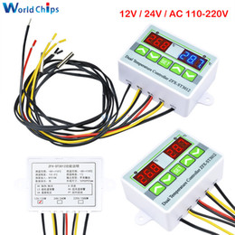 voltage controller 12v Australia - ST3012 AC 12V 24V 110V 220V Digital LED Dual Thermometer Temperature Controller Microcomputer Regulator Sensor Control Meter