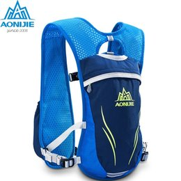 hydration backpack bag 2019 - AONIJIE 5.5L Trail Running Hydration Backpack Outdoors Mochilas Hydration Vest Pack For Camping Hiking Cycling Hiking Ba