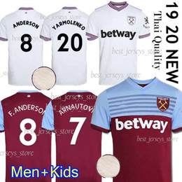 Chinese  19 20 west soccer jersey ham 2019 2020 United NOBLE jerseys ANDERSON ARNAUTOVIC ANTONIO football shirt uniforms kit men + kids manufacturers