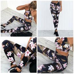 2483eba85e1ee Yoga athletic wear online shopping - Yoga Athletic Wear Slim Fit Sport Suit  Women Splicing Mesh