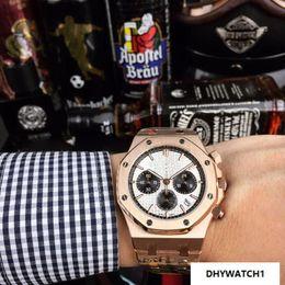 Big Rose Watches Australia - CHINA Chronograph DATE BIG Rose gold QUARTZ sport wholesale Montre de luxe fashion men watch new Stainless steel mens watches