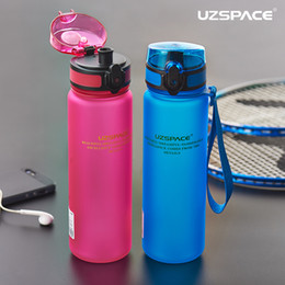 TriTan boTTles online shopping - Sport Water Bottle Tritan Material Plastic Drinkware Protein Shaker Camping Hiking My Drink Bottle Portable Ml Ml with Rope