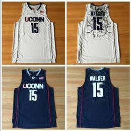 $enCountryForm.capitalKeyWord Australia - NCAA Uconn Huskies 15 Walker White And Black Embroidered Basketball Swingman Jersey
