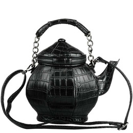 Gothic handbaGs online shopping - Funny Gothic Purse Teapot Shaped Crossbody Handbag Top Handle Tote Women S Shoulder Bags