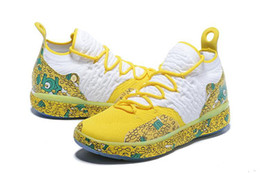 boys kd shoes Australia - High Quality KD 11 Scrooge McDuck shoes for sales free shipping Kevin Durant Christmas Outdoor Shoes store With Box US7-US12